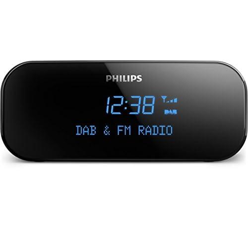 Philips AJb3000/12 Radio Orologio (DAB+, Sintonizzatore FM Digitale, Sveglia Integrata, Timer Sleep), Nero