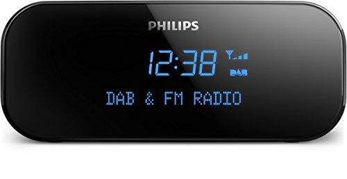 Philips Radiowecker AJB3000/12 Uhrenradio (DAB+, Digitaler UKW-Tuner, Integrierter Wecker, sanfte Weckfunktion, Sleep-Timer) Schwarz