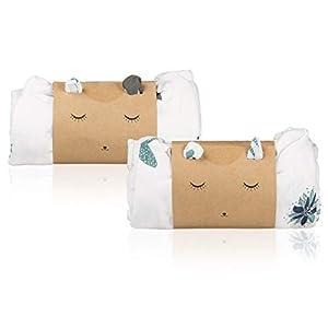 Pack 2 Mantas Muselina en Bambú y Algodón Orgánico para Bebé | Set Gasas Swaddle Wrap Unisex | Sábanas Recién Nacido…