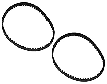 HASMX FH51200 Timing Belt for Hoover Vacuum Cleaner Replaces Part Number 440006361 Power Carpet Washer FH51200 Black Geared Belt  2-Pack
