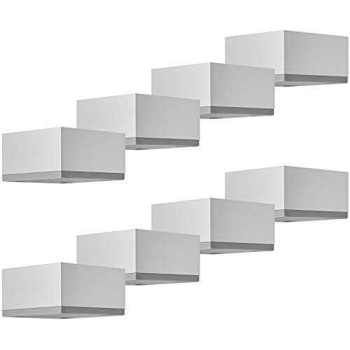 SOTECH 8er Set Möbelbeine MOTEL 35 mm 65 x 65 mm Silber eloxiert Schrankbeine aus Aluminium