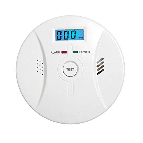 Berrywho Co Alarm Rauchmelder Kohlenmonoxid-Alarm mit LCD-Display Sprachbenachrichtigung für Heim Feuer Gas Leaks