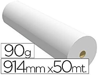 Fabrisa 7910509 - Rollo de papel para plóter, 90 g, 914 mm