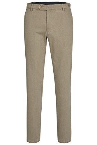 aubi: Herren Sommer Jeans Hose Stretch aus Baumwolle High Flex Modell 526 beige Größe 28