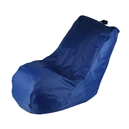 JJZXT Lazy Bean Bag Funda de Silla sin Relleno de Tela Oxford Impermeable Asiento de Tumbona Bean Bag para Muebles de Sala de Estar Lazy Sofa Cover (Color : Blue)