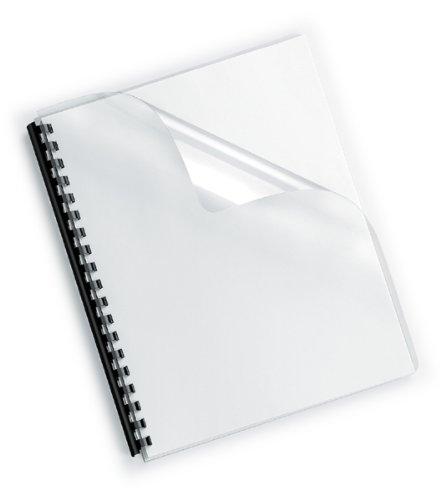 100 Einbanddeckel Klarsichtfolie, Din A4, transparent, klar, 0,2 mm (200 mic.)