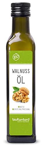 Walnussöl BIO kaltgepresst 250ml I nativ - 1. Kaltpressung I 100% natürlich von bioKontor