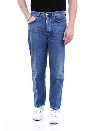 Haikure HEM03140DF036 Straight Uomo Blu Jeans 30