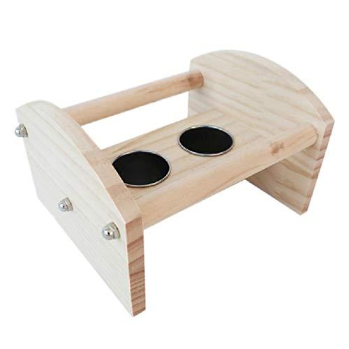 NA/ Bird Perch Playgym con comedero de acero inoxidable, cuenco de loro y jaulas para perros medianos con divisor