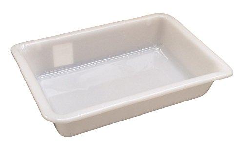 2 Litre (L 300 x P 210 x H 65 mm) – Plateau de rangement peu profondes gigognes qualité alimentaire Blanc Commercial Boîte présentoir, blanc, 2 Litres