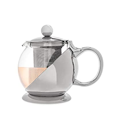 Pinky Up Shelby Stainless Steel Wrapped Teapot & Infuser, Set of 1
