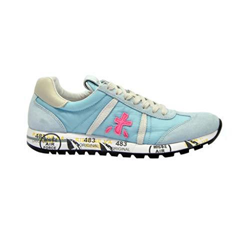 PREMIATA Damen Lucy3729 Hellblau Wildleder Sneakers