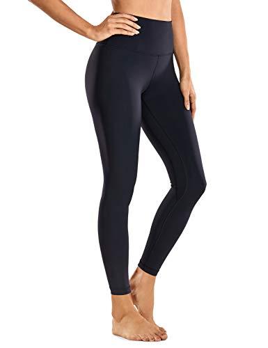 CRZ YOGA Mujer Deportivos Leggings Mallas Fitness Pantalones de Cintura Alta -63cm Negro 36