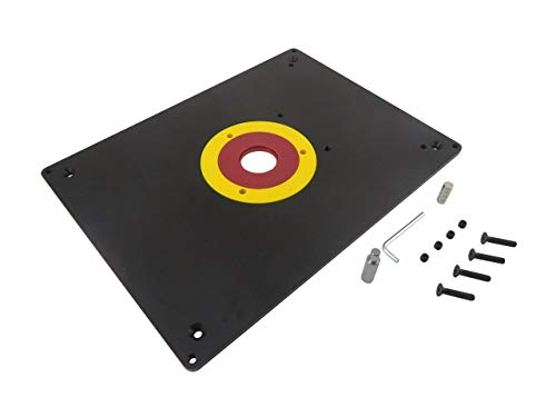 Taytools 469072 Router Table Mounting Base Plate 3/8 Inch Aluminum 12 x 9 Inches