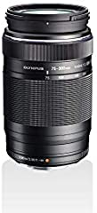 Olympus M.Zuiko Digital ED 75‑300mm F4.8‑6.7 II - Objetivo Adecuado para Todas Las cámaras MFT, Modelos Olympus OM-D & Pen, Serie G de Panasonic, negro