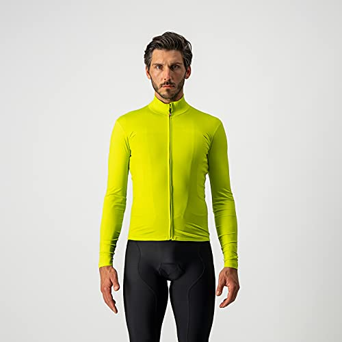 CASTELLI 4521516-384 PRO Thermal Mid LS Jersey T-Shirt Uomo Chartreuse M