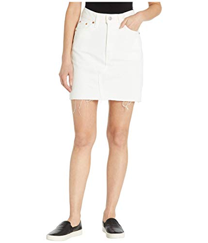 Levi's Women's High Rise Decon Iconic Skirts, White Lie, 33 (US 16)