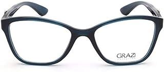 c171ea77d7e73 Óculos de Grau Grazi Massafera GZ3043 F249 Verde Translúcido Com Cristais  Da SWAROVSKI Lente Tam 52