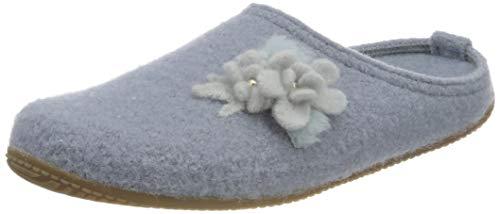 Living Kitzbühel Damen Pantoffel Hochzeit mit Fußbett Hausschuh, Pearl Blue, 42 EU