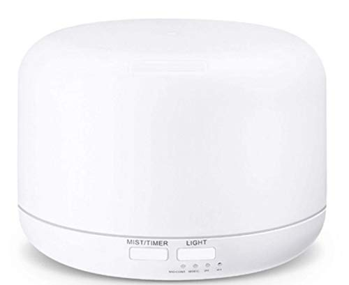 Aromatizador de Ambiente e Umidificador Cilíndrico 300 ml USB Branco Animus Bem Estar