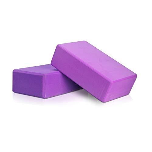HSYMQ 2Pack Yoga Blocks Workout Blocks, Purple Stretching Blocks Yoga Foam Block
