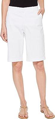 NYDJ Women's Bermuda Short, Optic White, 16