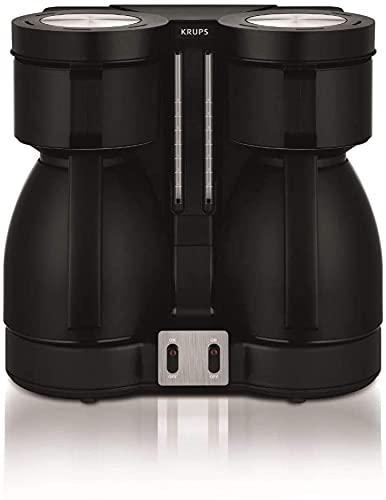 Krups Duothek Thermo Filterkaffeemaschine, zwei Isolierkannen, Abschaltautomatik, tropffrei, Perfekte Kaffeequalität, große Menge (16 Tassen), Ein & Aus-Schalter, Wasser -und Leuchtanzeige, 850 Watt