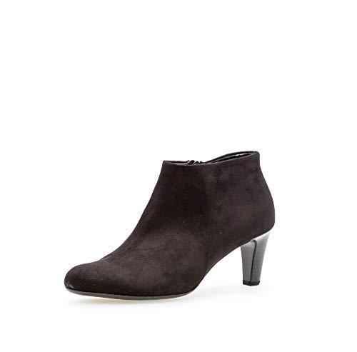 Gabor Damen Stiefeletten, Frauen Ankle Boots,Reißverschluss, halbstiefel Kurzstiefel uebergangsschuhe uebergangsstiefel,schwarz,38 EU / 5 UK