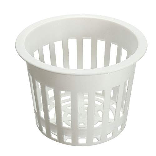 EsportsMJJ 11.2 cm blanc hydroponique maille en plastique pot net tasse panier aeroponic jardin plante croître clone Container