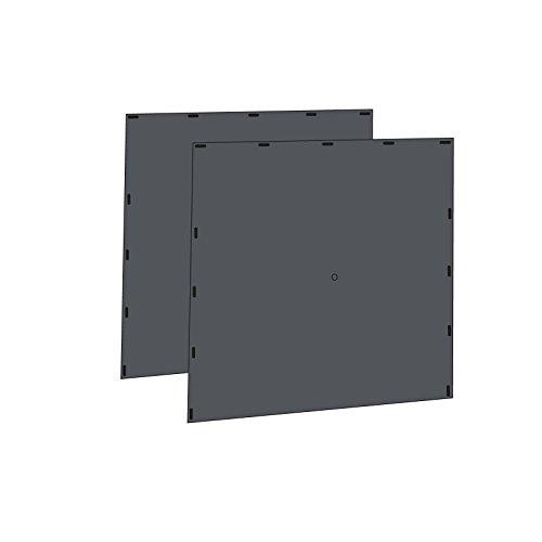 Qeedo Quick Hub 20 Seitewände (passend Quick Hub 20) - grau [2 Stück]