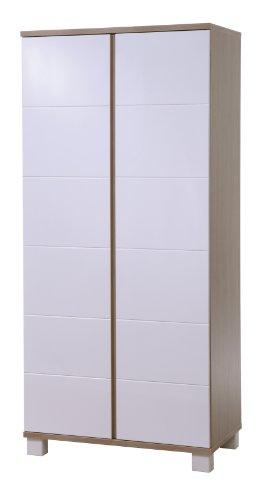 roba Kleiderschrank 'Genova', 2 Türen, Kleiderstange, Kinderzimmer Schrank bicolor