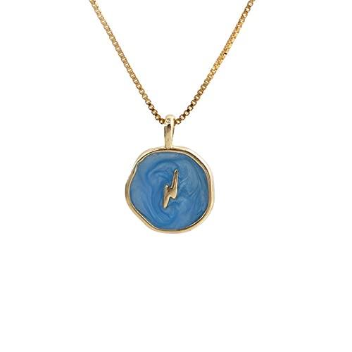 Collar personalizado, collar de pletect, colgante de amor creativo de snoon, chapado en oro de cobre, 6 colores se pueden seleccionar
