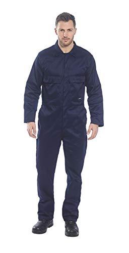 Portwest Overall, mit Druckknopfleiste vorne, Marineblau, Größe 3X-Large, XXXL, blau, 1