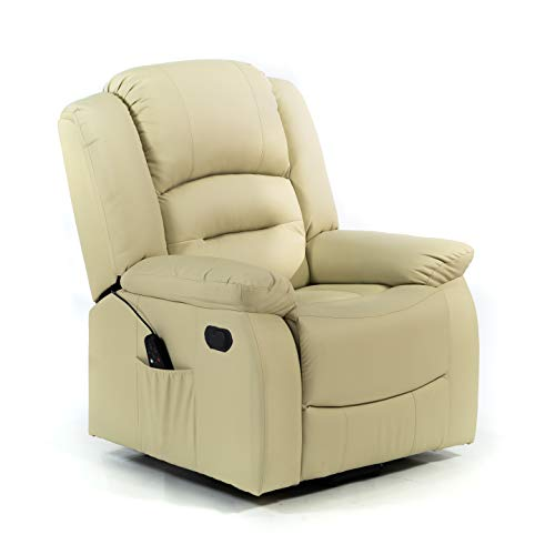 ECODE Sillón De Masaje Maximum, 9 programas, Calor Lumbar, Color Beige ECO-8198