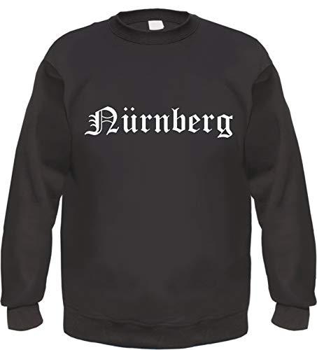 Nürnberg Sweatshirt - Altdeutsch - Bedruckt - Pullover M Schwarz