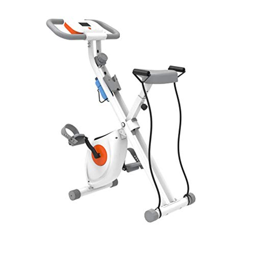 Sale!! HLEZ Foldable Exercise Bike, Fitness Bike with LCD Display Collapsible/Folding Cardio Exercis...