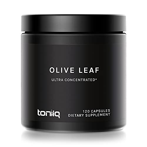 22x Potent Ultra High Strength Olive Leaf Capsules - 50% Oleuropein - 22,000mg Raw Powder Equivalent - The Strongest Olive Leaf Supplement Available
