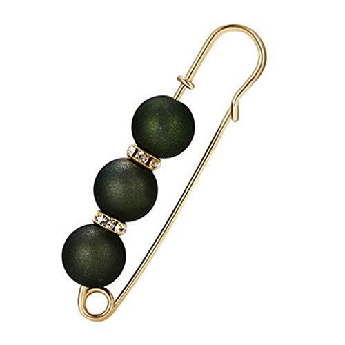 Broche de perlas de color grande, para decoración de cuentas, hebilla de seguridad, para camisa, collar y accesorios de vestir (color: Q)