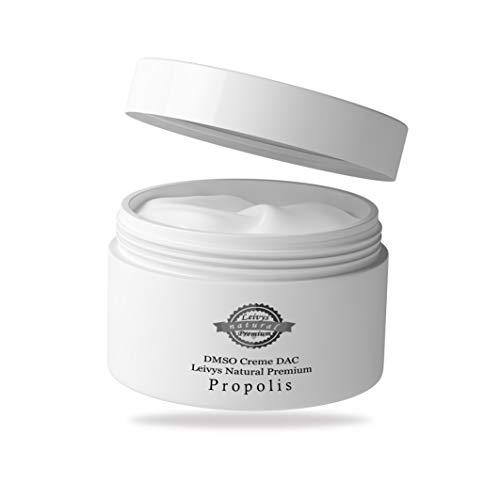 Leivys DMSO CREME Propolis- Salbe mit Dimethysulfoxid 99,9% Reinheit bequeme Anwendung, effektive Wirkung 2x 50ml