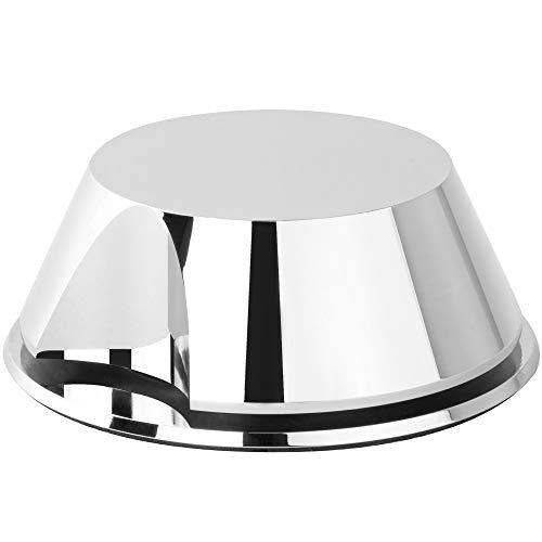 Estabilizador de Peso Hudson Hi-Fi SpaceBen Record con Almohadilla Protectora de Cuero - Peso de la Plataforma giratoria de Vinilo de 8 oz - Se Adapta a Cualquier Plataforma giratoria - Cromado