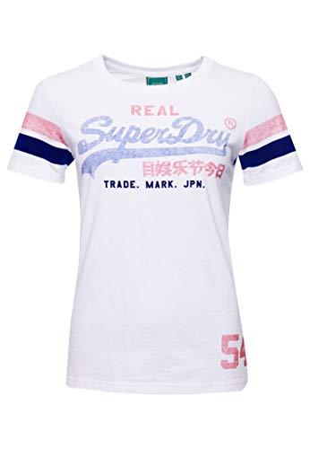 Superdry Damen Vintage Logo Varsity T-Shirt Optik 38