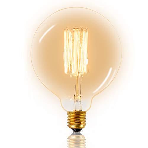 Mr. Classic Vintage lampadina Edison Retro lampada Squirrel decorazione Nostalgie G 125 mm Classic illuminazione ideale per un ambiente accogliente luce bianca calda illuminazione