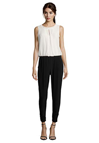 Vera Mont Damen 0012/4835 Jumpsuit, Schwarz (Black/Cream 9812), 44