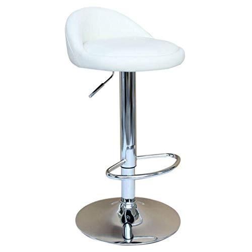 Baignoires Taburetes de Barras giratorias Sillas de Ascensor de Cuero sintética Taburetes de Barras con sillas de Barra Ajustable de Altura de Respaldo 1226 (Color: Negro) (Color : White)