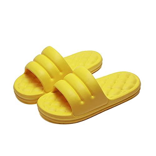 JaMsnc Zapatillas de baño para hombre, sandalias de sofá para parejas, zapatillas de baño antideslizantes-amarillo_38-39 yardas, sandalias suaves para el hogar