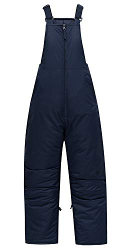 PHIBEE Kids' Insulated Waterproof Snow Pants Windproof Warm Ski Bib Overalls for Boys and Girls Deep Blue 12