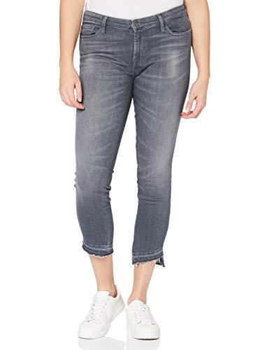 7 For All Mankind Pyper Crop Jeans, Grigio, 42 Donna