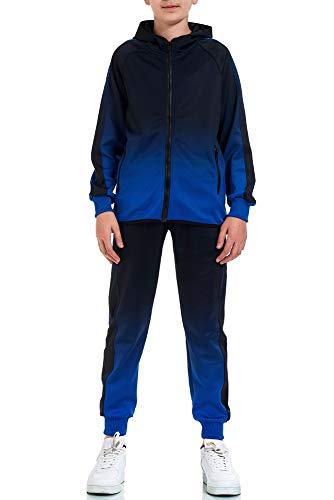 XRebel Kinder Junge Jogginganzug Sportanzug Modell W32 (Blau, 140-146(12))
