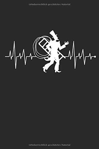 Herzschlag Herzlinie Herzfrequenz Kaminkehrer: Notizbuch DIN A5 I Dotted Punkteraster I 120 Seiten I Geschenk Schornsteinfeger Beruf Handwerk ... Schornstein Kaminfeger Glücksbringer