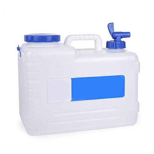 Fablcrew. Jerrican - Agua de Acampada con Grifo (15 L), Color Blanco